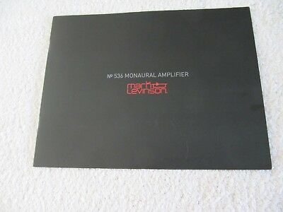 MARK LEVINSON NO 536 Mono Block Amplifiers *NEW* (sealed