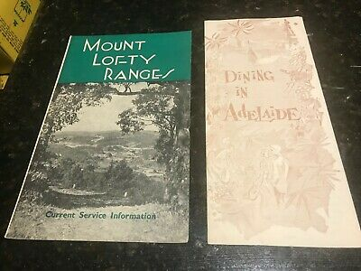 Mount Lofty Ranges-Service Information-1960 & Dining in Adelaide-1961-Brochures.