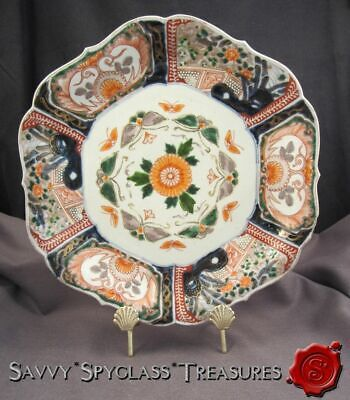 Meiji Period Japanese Imari Porcelain Large Scalloped Deep Plate/Bowl