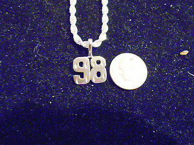 bling silver plated sport TEAM number 98 fashion pendant charm necklace JEWELRY
