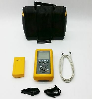 FLUKE NETWORKS DSP-100 LAN CABLEMETER CABLE TESTER METER w/DSP-R STANDARD REMOTE