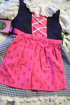 9-12m,Baby,Girls,Kids,Blue,Germany,,Trachten,Oktoberfest,Dirndl Dress,3-pc.
