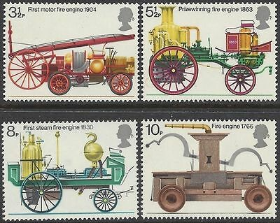 Great Britain 1974 FIRE-FIGHTING (4) Unhinged Mint SG 950-3