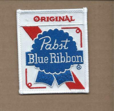 New 2 5/8 X 3 1/4 Inch Pabst Blue Ribbon Beer Iron On Patch Free Shipping E1