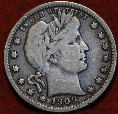 1909-S San Francisco Mint Silver Barber Quarter