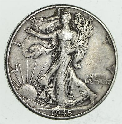 Strong Feather Details - 1945 Walking Liberty Half Dollar *191
