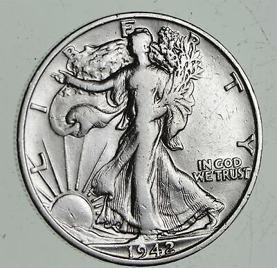 Strong Feather Details - 1942-S Walking Liberty Half Dollars - Huge Value *487