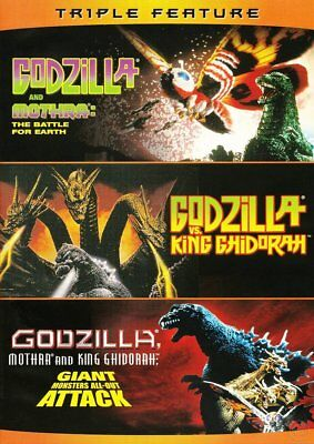 Godzilla Mothra And King Ghidorah Giant Monsters All Out Attack +2 More Dvd 3Pk