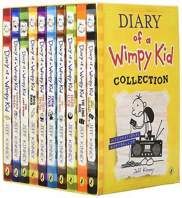 Diary of a Wimpy Kid Collection 10 Books Box Set Jeff Kinney, Jeff Kinney, Used