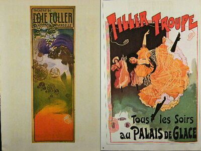 Dance Poster Print Two-Sided, LOIE FULLER 1900, TILLER TROUPE 1900