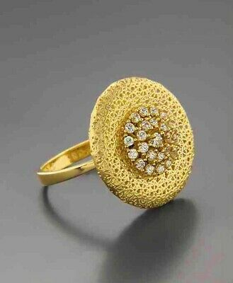 Nice 18K Yellow Gold Plated White Topaz Ring Woman Men Anniversary Gift Size6-10