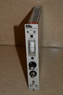 Bertan Assoc Inc Model 342 Power Supply Nim Bin Plug In (Tp137)
