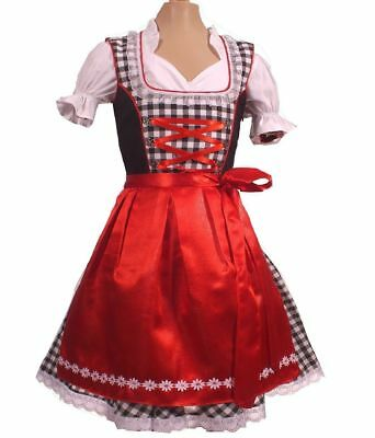 Girls,Kids,sz 4,Germany,German,Trachten,May,Oktoberfest,Dirndl Dress,3-pc.Red