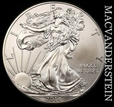 2014 American Silver Eagle- No Reserve !! Choice Gem Brilliant Unc !! #e8496