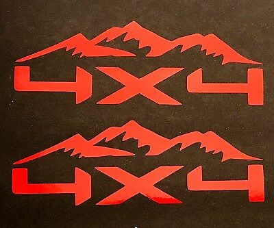 2 NEW 4X4 OFF ROAD DECAL STICKER 4WD TRUCK SUV FORD CHEVY DODGE TOYOTA GMC LOGO