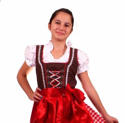 Girls,Kids,size 6,Germany,German,Trachten,May,Oktoberfest,Dirndl,3-pc.brown,red