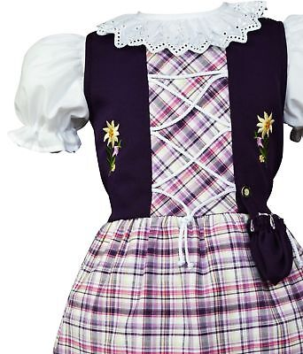 Girls,Kids SZ ~6 year,German,Trachten,Oktoberfest,Dirndl Dress,2-pc.Purple,Lilac