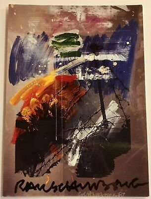Robert Rauschenberg Hand Signed Postcard Mint Condition