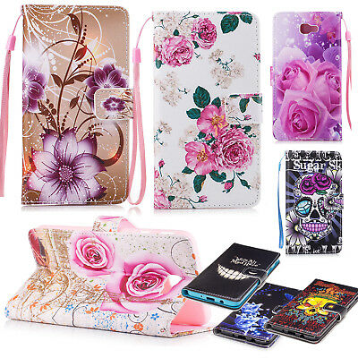 PU Leather Flip Card Wallet Stand Phone Case Cover For Samsung Galaxy J7 Prime