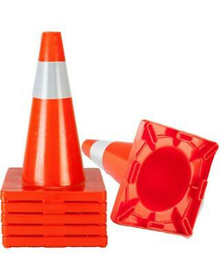 "5PCS 18"" Orange Safety Traffic Cones Trucks and Road Safety"