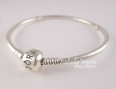 "Authentic PANDORA Charms Sterling SILVER Bracelet 7.1""18cm 590702HV NEW w POUCH!"