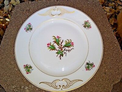 "Ch. Field Haviland Limoges Moss Rose 9 1/2"" Plate"