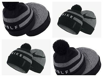 pick up 879a3 07fcc Adult Unisex Nike Golf Reversible Hat Removable Pom Knit Beanie 932356 010