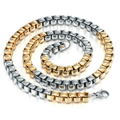Fashion Stainless Steel Gold Silver Filled Repeat Necklace Screw Chain 23 inches