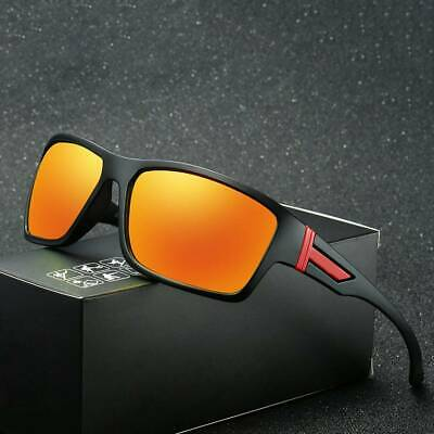 DUBERY Men Sport Polarized Sunglasses Outdoor Riding Fishing Square Glasses 2019