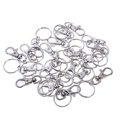 10/20pcs Small Silver Lobster Trigger Swivel Clasps for Keyring Hook Keychain UK