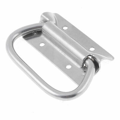 Silver Tone Stainless Steel Rectangular Base Puller Chest Handle