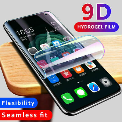 For Samsung Galaxy Note9 8 S9 S10 Plus S10e 9D Screen Protector Hydrogel Film UK
