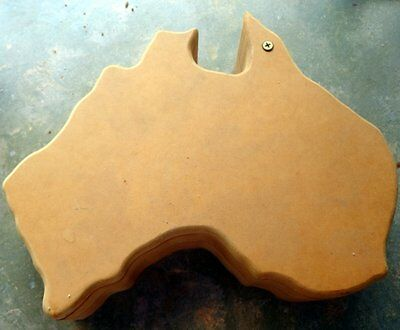 Wooden Shapes  - Craftwood Box In Shape Of Australia