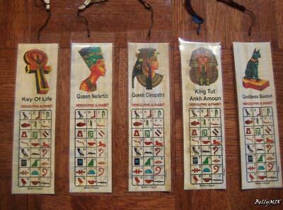 12 Large AUTHENTIC Egyptian BookMarks PAPYRUS...Book Mark...MIX Ancient Pharaohs