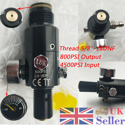5/8''-18UNF Thread Paintball Valve Regulator 4500psi Air Cylinder Output 800psi