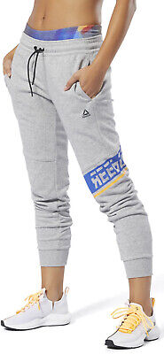Reebok WOR Meet You There Graphic Womens Joggers - Grey