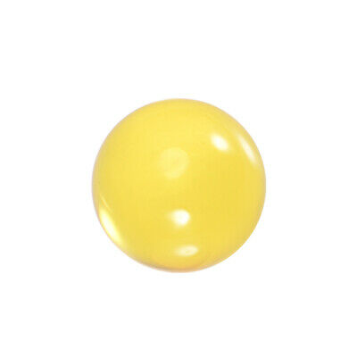 30mm Diameter Acrylic Ball Yellow Sphere Ornament 1.2 Inches