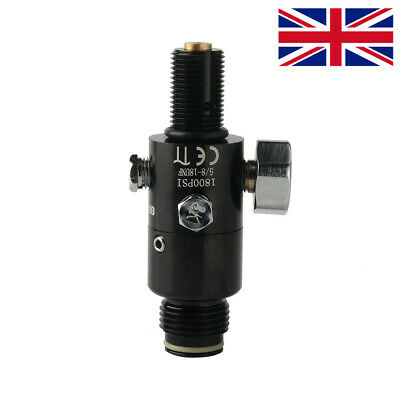 "Paintball Valve Regulator 4500psi HPA Air Tank Output 1800psi 5/8""-18UNF Thread"
