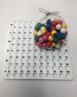 Recessed Bingo Number Calling Checker Board & Balls Checkboard Balls Approx 7Cm