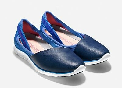58b1a79c2d3 COLE HAAN ZEROGRAND Navy Blue Wrap Slip On Flats Shoes 8 B -  39.95 ...