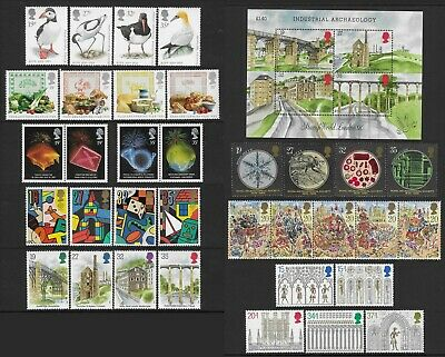 GB 1989. A COMPLETE YEAR OF 8 SETS OF COMMEMORATIVE STAMPS+1 MS. MNH. FV £10.11p