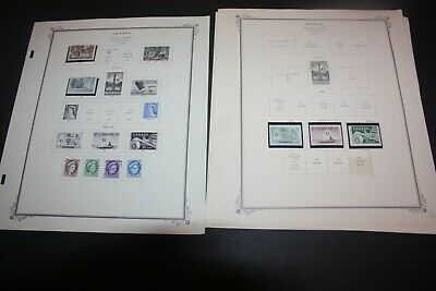 CANADA LOT of 60+ Stamps on  Scott 1 Sided Album Pages