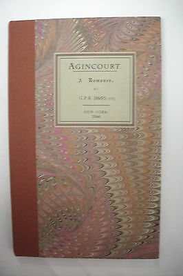 Rare! 1844 First Edition AGINCOURT - A ROMANCE by G.P.R. James