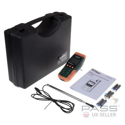 *NEW* Extech SDL350 Hot Wire CFM Thermo Anemometer/Datalogger incl. Case / UK