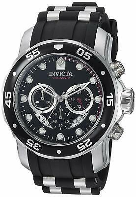 Invicta Pro Diver Master Of The Oceans Black Dial Silicone Men's Watch 6977 SD9