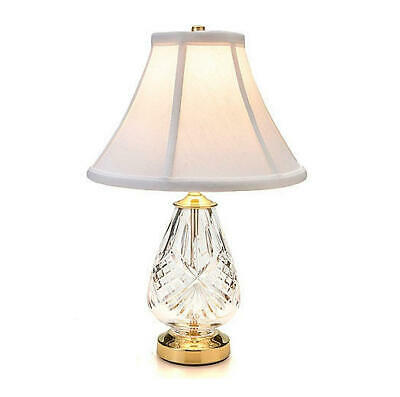 "Waterford Crystal Lauren 16"" Accent Lamp w/ Cotton Shade"