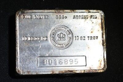 Vintage RCM Royal Canadian Mint 10 oz .999+ Silver Bar Sealed