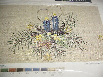 Lindhorst  Embroidery Kit Floral Candle Pine Cone Star Germany