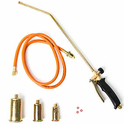 Propane Blow Torch w/ 3x Nozzles Portable Melting Ice Snow Lawn Weed Fire Burner