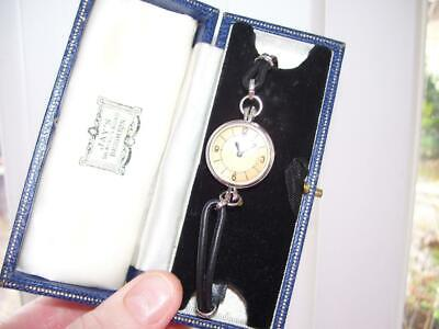 Rare Fine Vintage Jaeger Le Coultre Wrist Watch Working Order Back Winder w Box